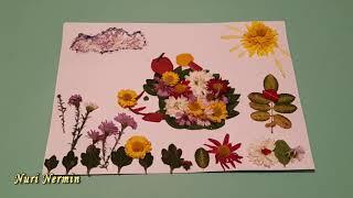 цветочный ежик из листьев