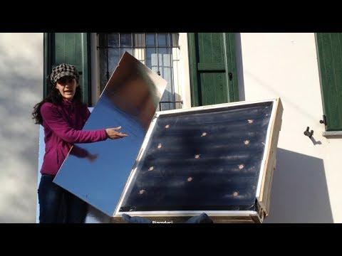 Pannelli Solari Termici Ad Aria Calda.Pannello Solare Ad Aria Calda Con Riflettori Solari 2