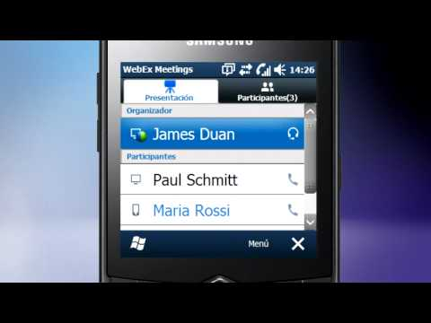 WebEx en Samsung OMNIA 735