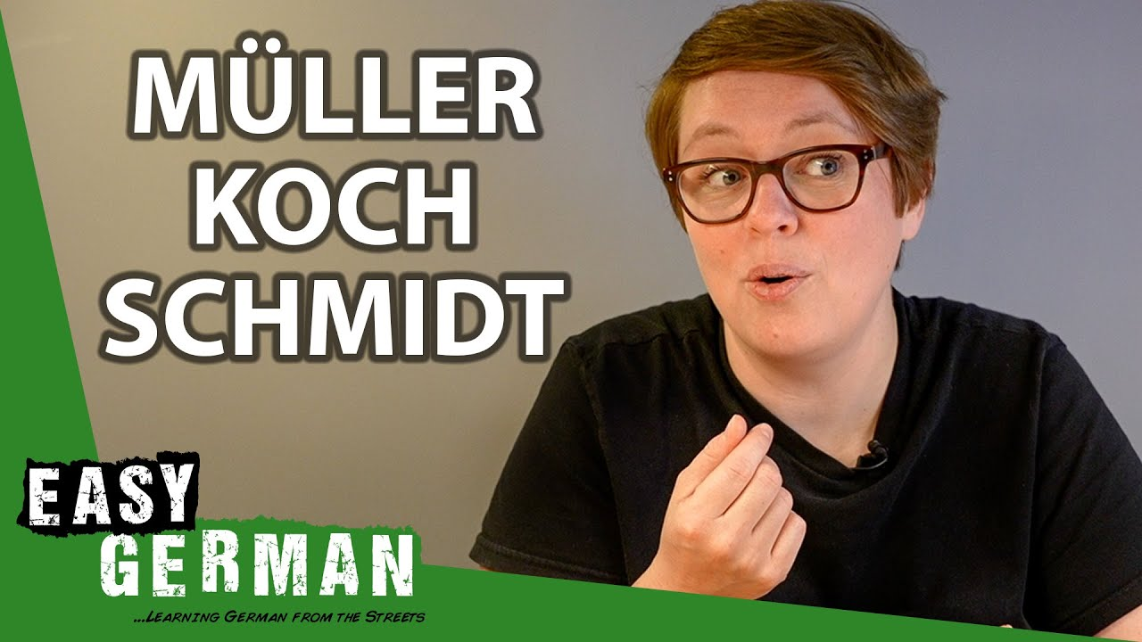 How to Pronounce the Most Popular German Surnames | Super Easy German 177