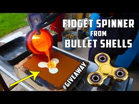 Casting Brass Fidget Spinner from Bullet Shells