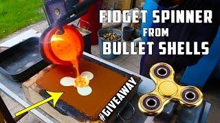 Casting Brass Fidget Spinner from Bullet Shells thumbnail