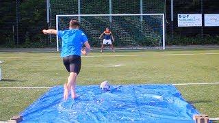 FUßBALL SLIP & SLIDE CHALLENGE