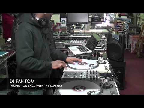DJ Fantom at Rock and Soul records and Equipment store. 12/3/10