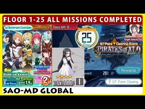 Quarter Point Clearing Event Floor 1-25 All Mission Completed (SAO Memory Defrag)