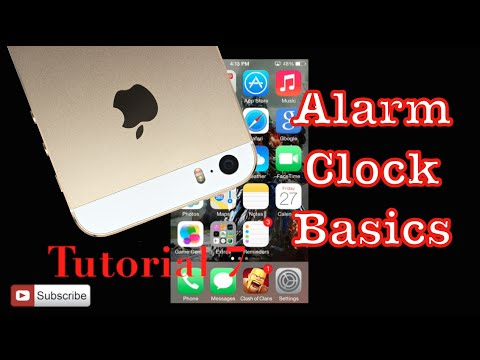Setting The Alarm On Your Iphone 5s