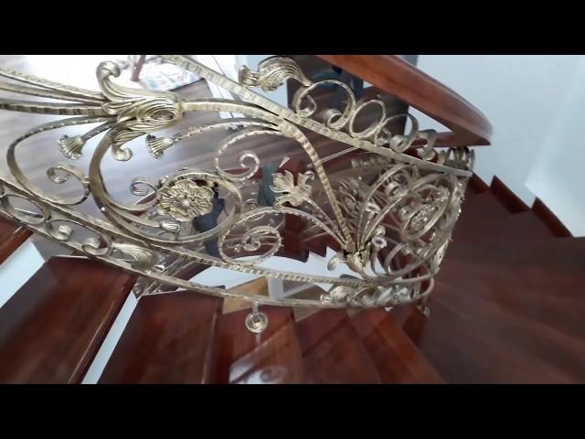 Mẫu cầu thang sắt nghệ thuật đẹp tại biệt thự Yên Bái | Nội Thất Thủ Đô