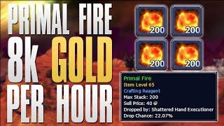 WoW Gold Farming 8k Gold Per HOUR! 6.2.4 Primal Fire Gold Farming Tutorial (World of Warcraft)