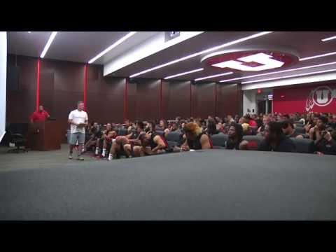 2014 Utah Football White Helmet Reveal