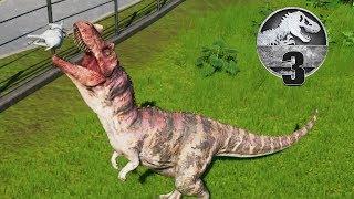 Jurassic World Evolution - Part 3 - FEEDING HIM A LIVE GOAT (RIP Goat)