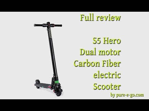 Full review of the S5 dual electric motor carbon fiber scooter
