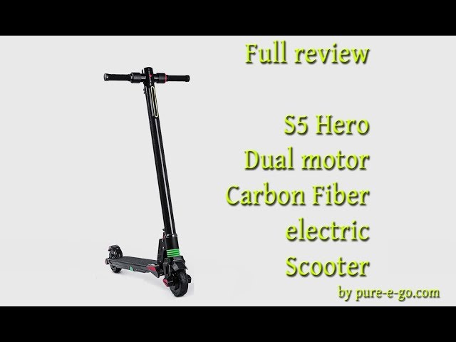 Kurt V Reviews The S5 Dual Motor Carbon Fiber Electric Scooter Mike Cane S Atomic Supermen