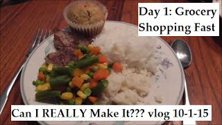 Vlog 10-1-15 Our 1st Day of Our Grocery Shopping Fast Challenge