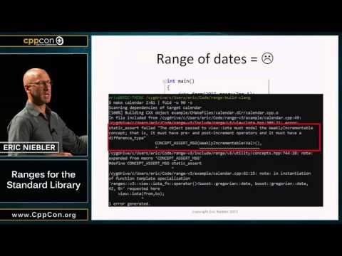 "CppCon 2015: Eric Niebler ""Ranges for the Standard Library"""