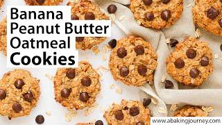 3 Ingredients Peanut Butter Banana Oatmeal Cookies
