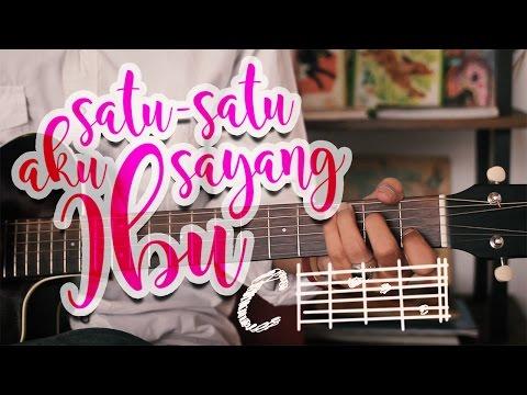 """Mari Belajar Gitar Lagu """"Satu Satu Aku Sayang Ibu"""""""