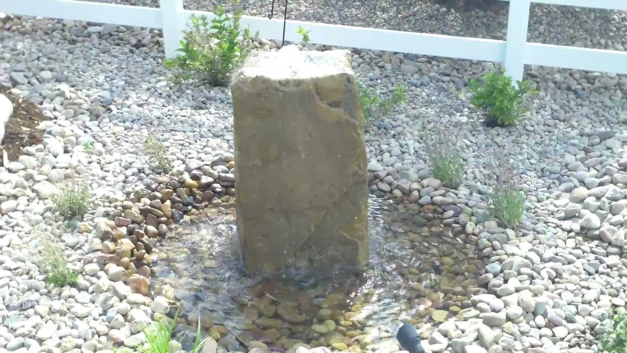 Pondless Bubbling Rock Water Feature Installed By Westminster Landscape  Contractor   YouTube