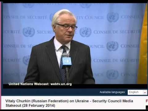 Russia Defends Ukraine Intervention At U.N:Vitaly Churkin