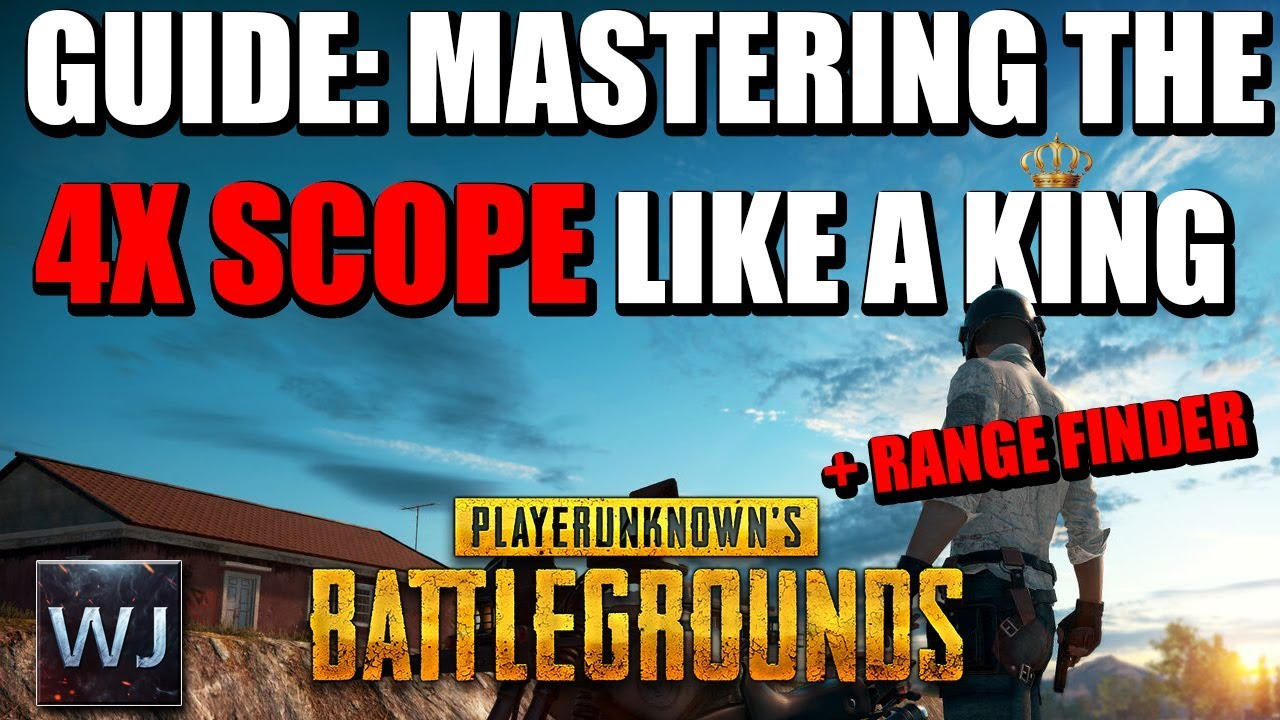 Download GUIDE: Mastering the 4x SCOPE like a KING +Rangefinder in PLAYERUNKNOWN'S BATTLEGROUNDS (PUBG)