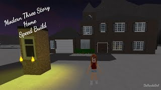 ROBLOX | Welcome to Bloxburg: Modern Three Story Home SpeedBuild - DaPandaGirl