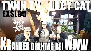 KRANKER DREHTAG BEI WWW - TWIN TV, EXSL95 IM INTERVIEW - VLOG | LUCY CAT