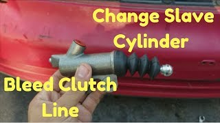 SELF BLEED CLUTCH LINE & Change Slave Cylinder | Honda & Acura