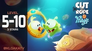 Cut The Rope: Magic 5-10 Ancient Library Walkthrough (3 Stars)
