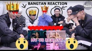 BTS reaction to BLACK PINK MV VS REALITY