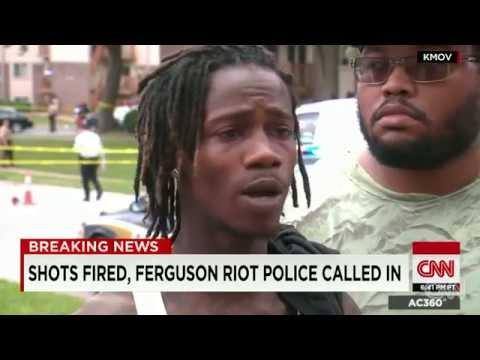 CNN Report: Michael Brown's Shooting, St. Louis Missouri - August 12, 2014