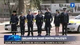 Salarii mai mari pentru poliţişti