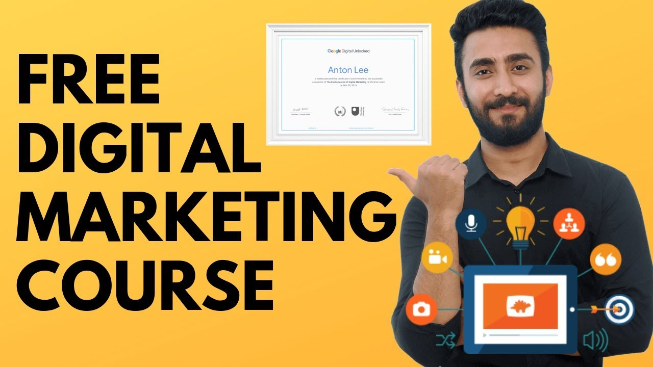 digital marketing course by google free