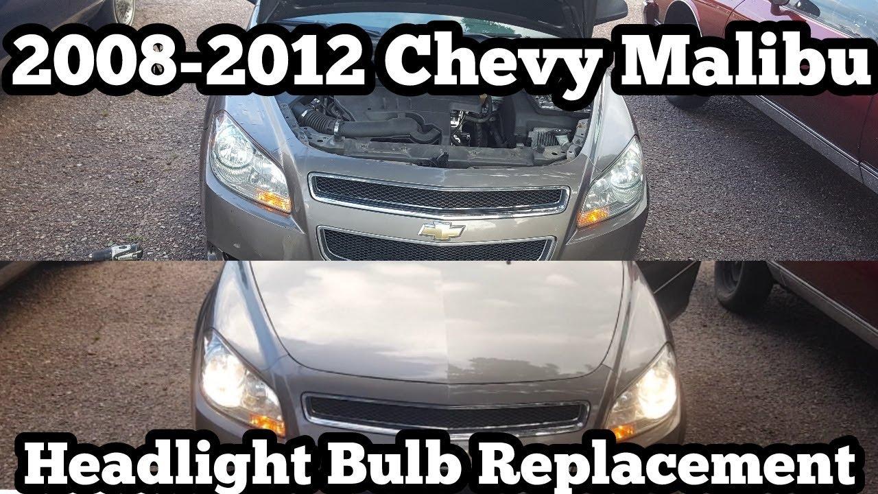Malibu 2008 chevy malibu headlight bulb replacement : 2008 2012 Chevy Malibu Headlight Bulb Replacement EASY DIY HD ...