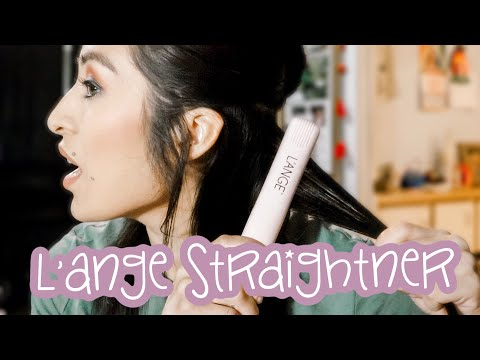 CURLING HAIR WITH L'ANGE STRAIGHTNER