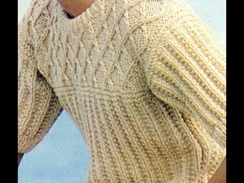 Patrón para tejer blusa a 2 Agujas - YouTube