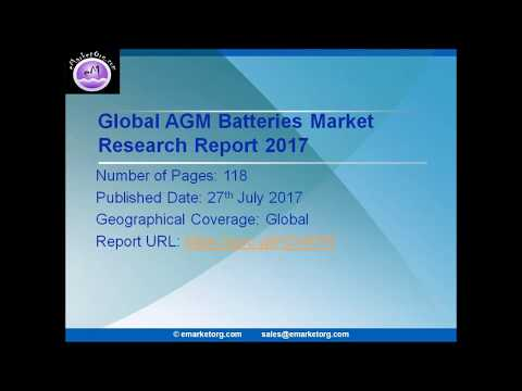 AGM Batteries Market Status and Forecast, by Players, Types and Applications