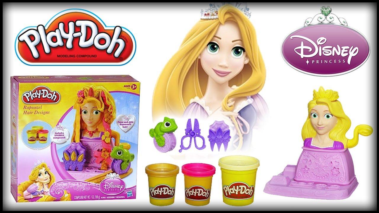 Play Doh Disney Princess Rapunzel Tangled Hair Designs Playset