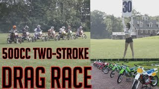 HONDA CR500 VS. KX500 VS YZ490 two-Stroke Drag Race 500cc SHOOT-OUT