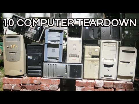 10 Computer Teardown: Dell HP Compaq IBM, vintage desktop hardware