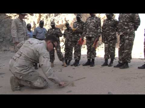 UXO Training given by U.S. Navy in Namibia.mov