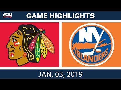 NHL Highlights | Blackhawks vs. Islanders - Jan. 3, 2019