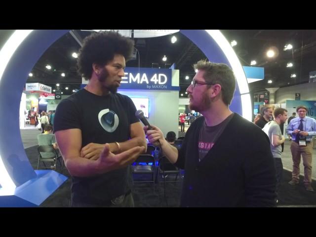 Siggraph 2017 Interview - MAXON Cinema 4D Community & Event Coordinator Mathias Omotola