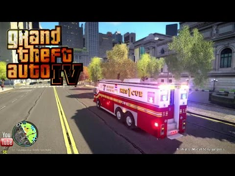 GTA IV - FDLC/FDNY - 12th day with the fire department! (Rescue 1) i7 5820K GTX 980