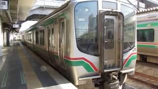 東北本線E721系0番台福島駅発車※発車メロディー「高原列車は行く」あり