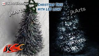 How To: Diy Christmas Tree With Led Light - Jk Arts 435