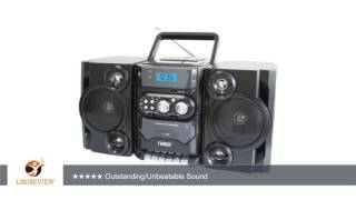NAXA NPB428 Portable CD/MP3 Player with AM/FM Radio, Detachable Speakers, Remote & USB Inputs |