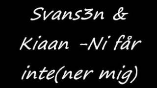 Download Svans3n & Kiaan - Ni får inte(ner mig) MP3 song and Music Video