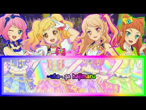 Aikatsu Stars OP 《MUSIC of DREAM!!!》FULL LYRICS Yume, Laura, Ako & Mahiru