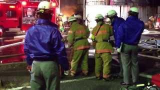 2014年1月9日 埼玉県さいたま市岩槻区南平野での火災現場です。