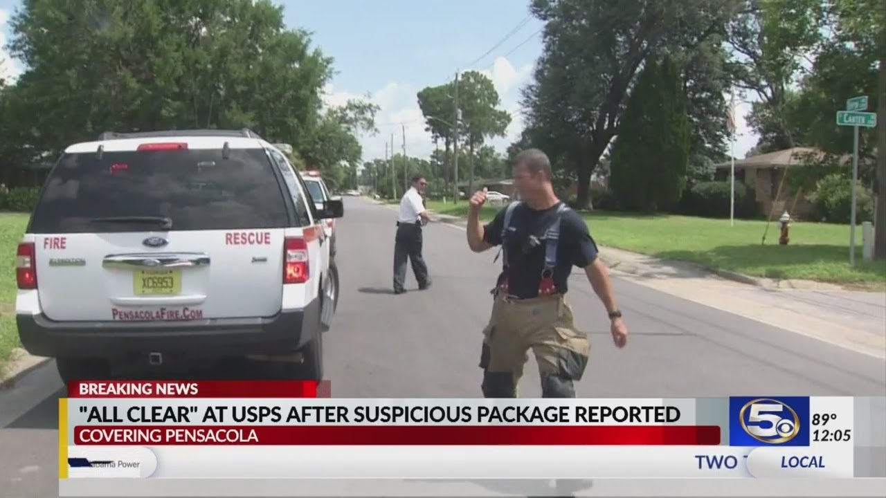 Suspicious package at Pensacola post office