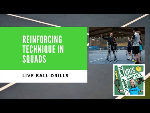 Developing tennis technique in squad training - part 3